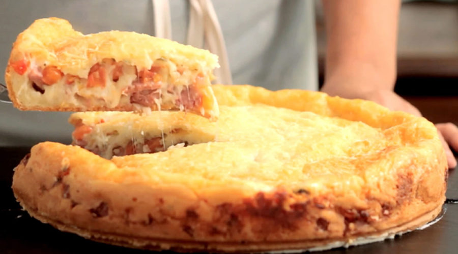 Como Fazer Torta de Pão de Queijo Low Carb